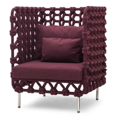 Plum Lounge Chair, Cabaret by Kenneth Cobonpue