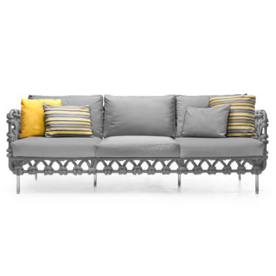 Grey Sofa lowback, Cabaret by Kenneth Cobonpue