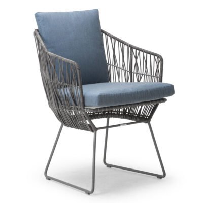 Grey Armchair, Calyx by Kenneth Cobonpue