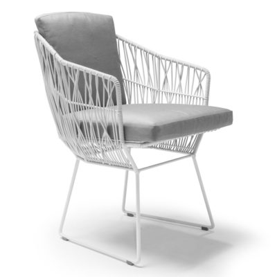 White Armchair, Calyx by Kenneth Cobonpue