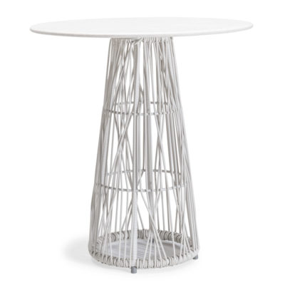 White Bistro Table, Calyx by Kenneth Cobonpue