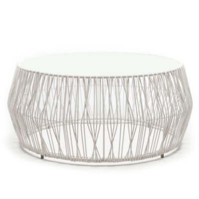 White Coffee Table, Calyx by Kenneth Cobonpue