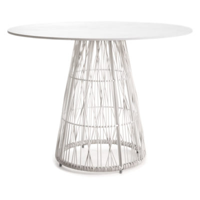 White Dining Table, Calyx by Kenneth Cobonpue