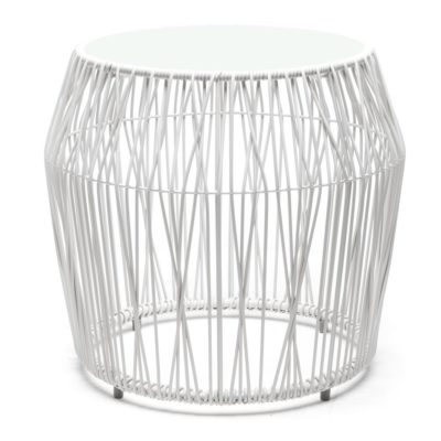 White End Table round, Calyx by Kenneth Cobonpue