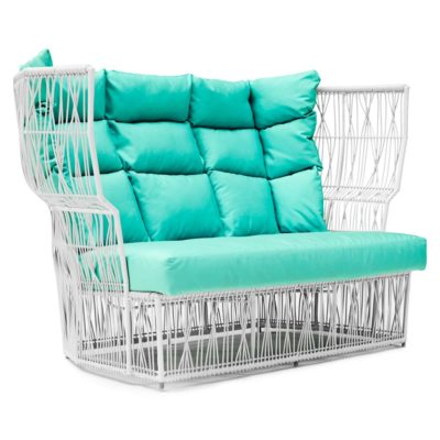 White Loveseat spa, Calyx by Kenneth Cobonpue