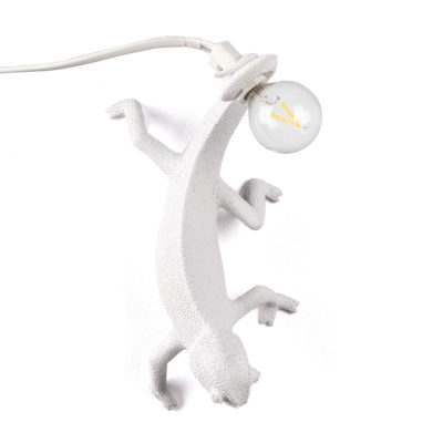 White Chameleon going down Lamp in Resin, Seletti
