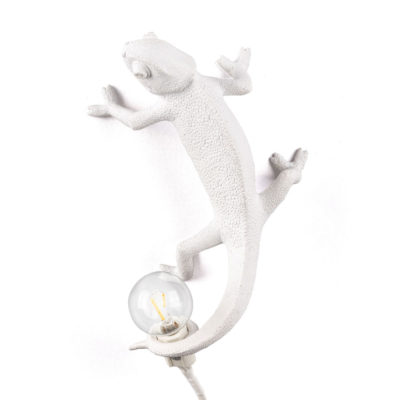 White Chameleon going up Lamp in Resin, Seletti