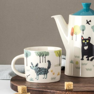 Dog Mug ceramic by Hannah Turner