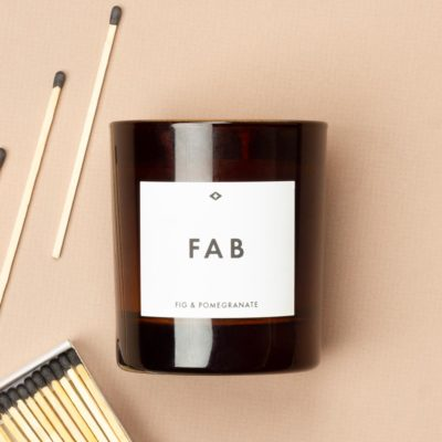 Fig and Pomegranate Scented Candle, Atlantic Folk