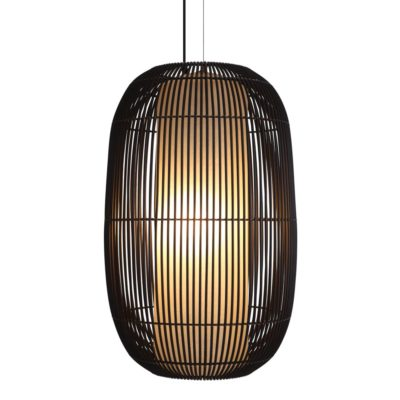 brown Hanging Lamp large, Geisha by Kenneth Cobonpue