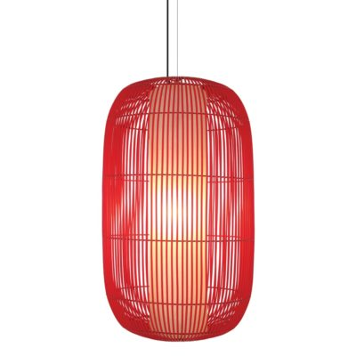 Red Hanging Lamp Large, Geisha by Kenneth Cobonpue