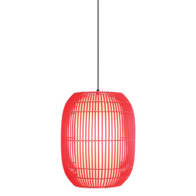 Red Hanging Lamp Small, Geisha by Kenneth Cobonpue