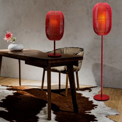 Geisha red lamp kenneth cobonpue