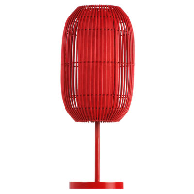 red Table Lamp, Geisha by Kenneth Cobonpue