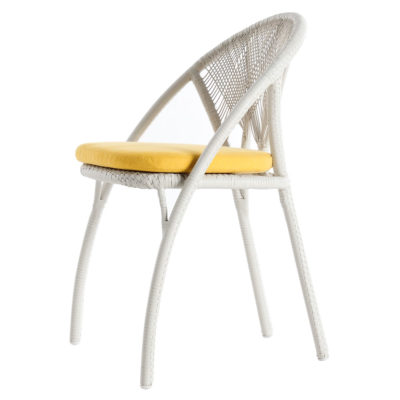 Outdoor white Side Chair, Hagia by Kenneth Cobonpue