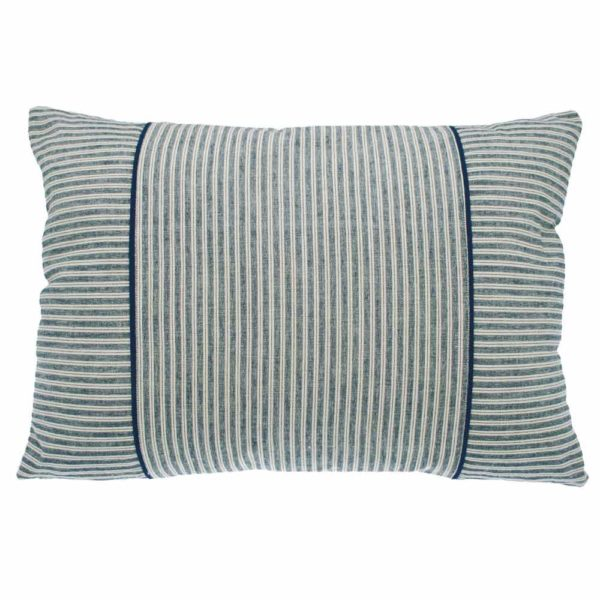 blue stripe rectangular cushion by Walton & Co