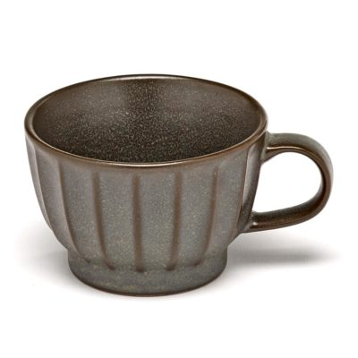 stoneware green Coffee Cup 15cl, Inku by Serax