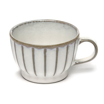 stoneware white Coffee Cup 15cl, Inku by Serax