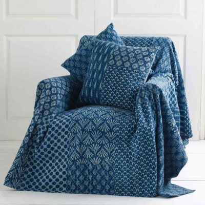 blue throw by Walton & Co