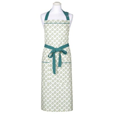 white apron with green leaves by Walton & Co