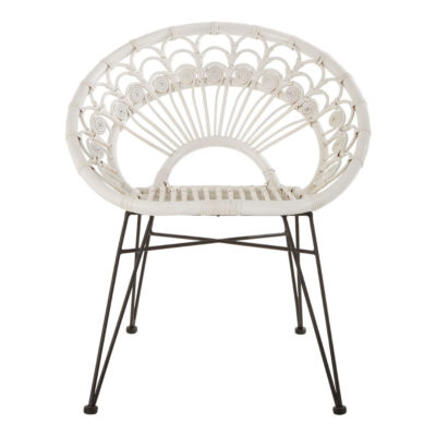White Rattan Chair, Latzio