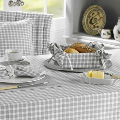 grey tablecloth by Walton & Co