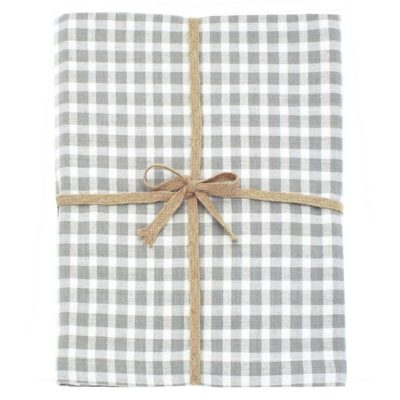 grey check tablecloth by Walton & Co