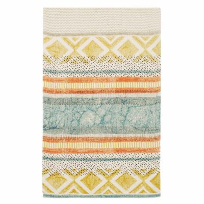 multicolour Sorbet block print runner by Walton & Co