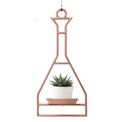 Copper hanging Planter by Kenneth cobonpue