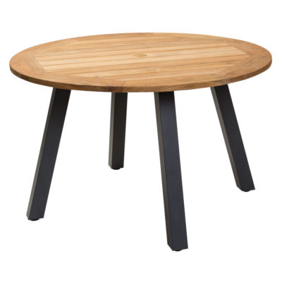 round 120cm wooden outdoor table Pr Home