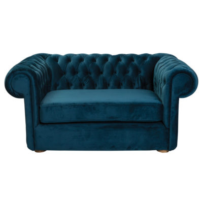 Blue velvet chesterfield sofa by Pr Home