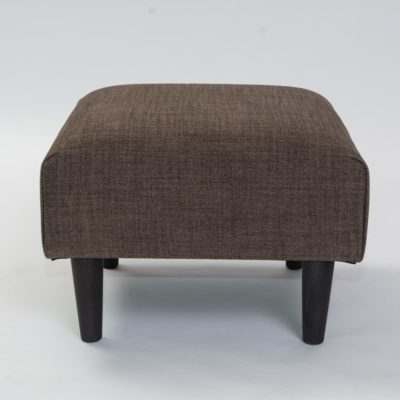 brown fabric chiswick footstool by pr home