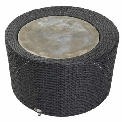 black outdoor coffee table by pr Home