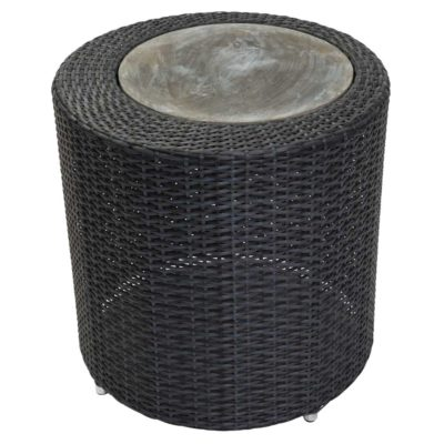 black outdoor side table by pr Home