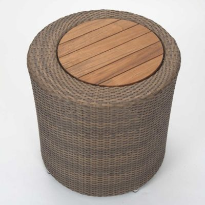 brown outdoor side table by pr Home