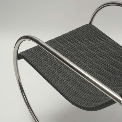 tubular stainless steel frame outdoor black chair Pr Home