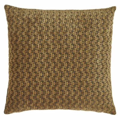 yellow geometric deco Jakobsdals cushion case