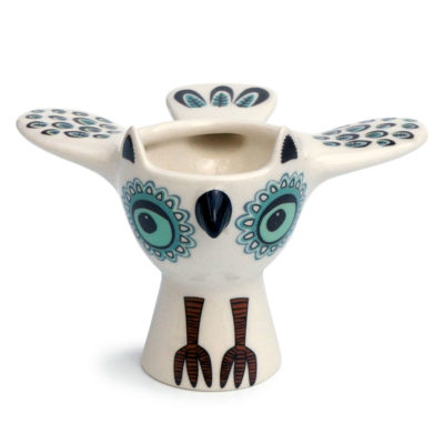 green owl eggcup by Hannah Turner