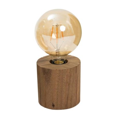 wooden cylindrical lamp base 12cm by Pr Home