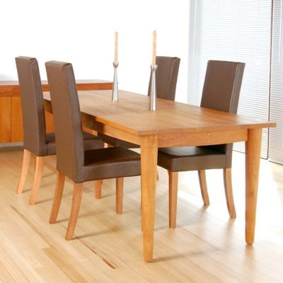 wooden dining table by Pr Home