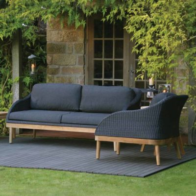 black large outdoor sofas by Pr Home