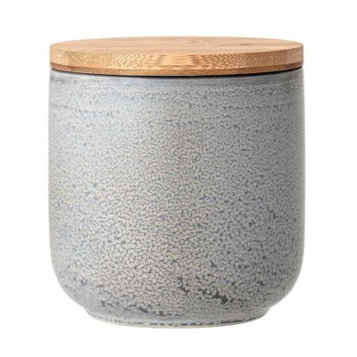grey stoneware Kendra Bloomingville jar with lid