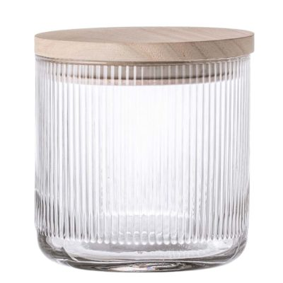 clear glass Bloomingville jar w/lid