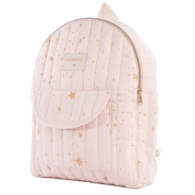 Pink organic cotton kid backpack by Nobodinoz