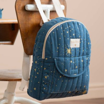 kid backpack gold stella night blue Nobodinoz