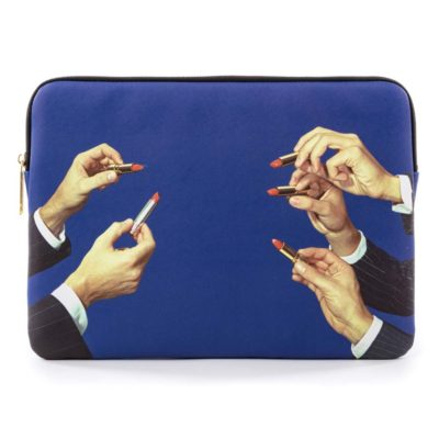 blue laptop bag lipsticks, Seletti