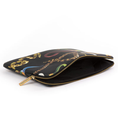 black laptop bag with snakes, Seletti