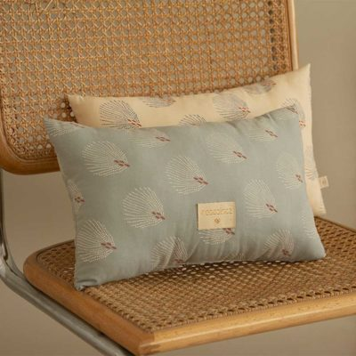 blue cushion in organic cotton by Nobodinoz