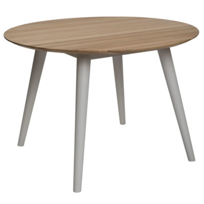 circular oak chalk dining table by Pr Home
