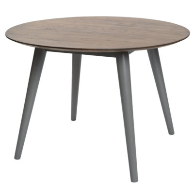 circular walnut dining table by Pr Home
